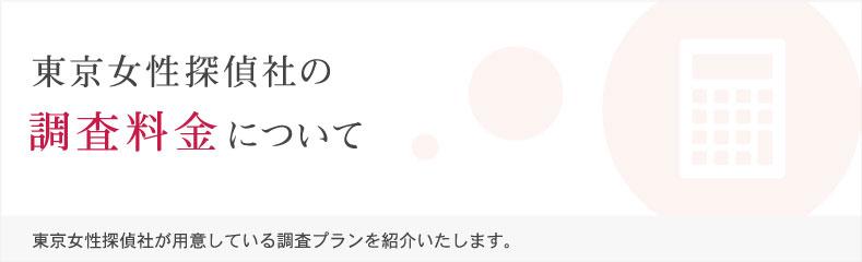 東京女性探偵社の調査料金について。東京女性探偵社が用意している調査プランを紹介いたします。